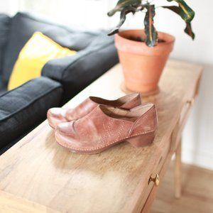 Dansko brown leather mules clogs 40